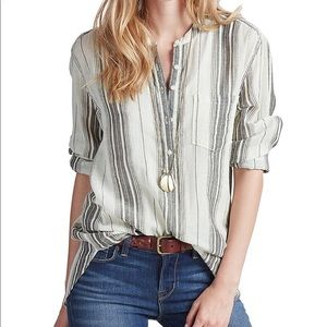 LUCKY BRAND | STRIPED TINIC | (size L)